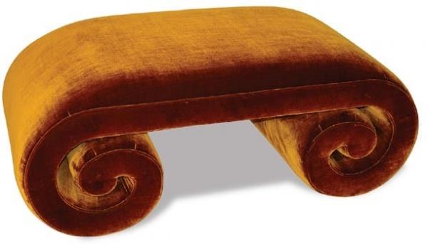 scroll ottoman