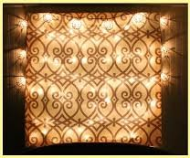 bronze square light fixture