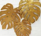 bronze wall leaves