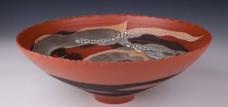 clay wide bowl