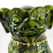 emeral green dog dragon statue