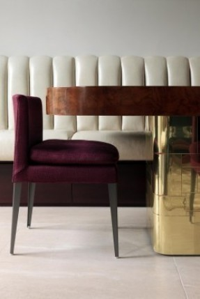 furniture-wonderful-layering-white-tucked-leather-banquette-jewel-tone-aubergine-velvet-side
