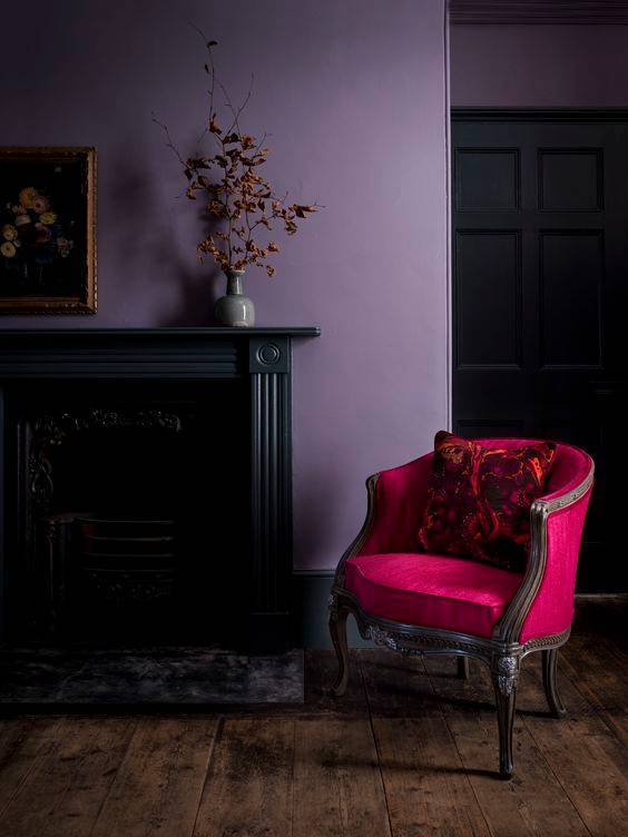 fushia club chair