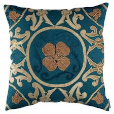 jewel blue cushion