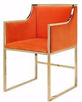 orange metal chair