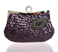 peacock amethyst purse
