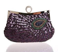 peacock amethyst purse